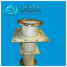 Delta Fountains Custom Stainless Steel Penetration Nipple