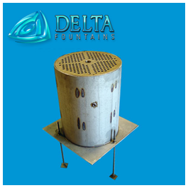 Delta Fountains Pop Jet Discharge Sump Stainless Steel