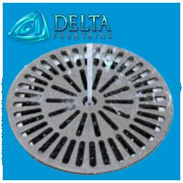 Delta Fountains Round Sump Grate