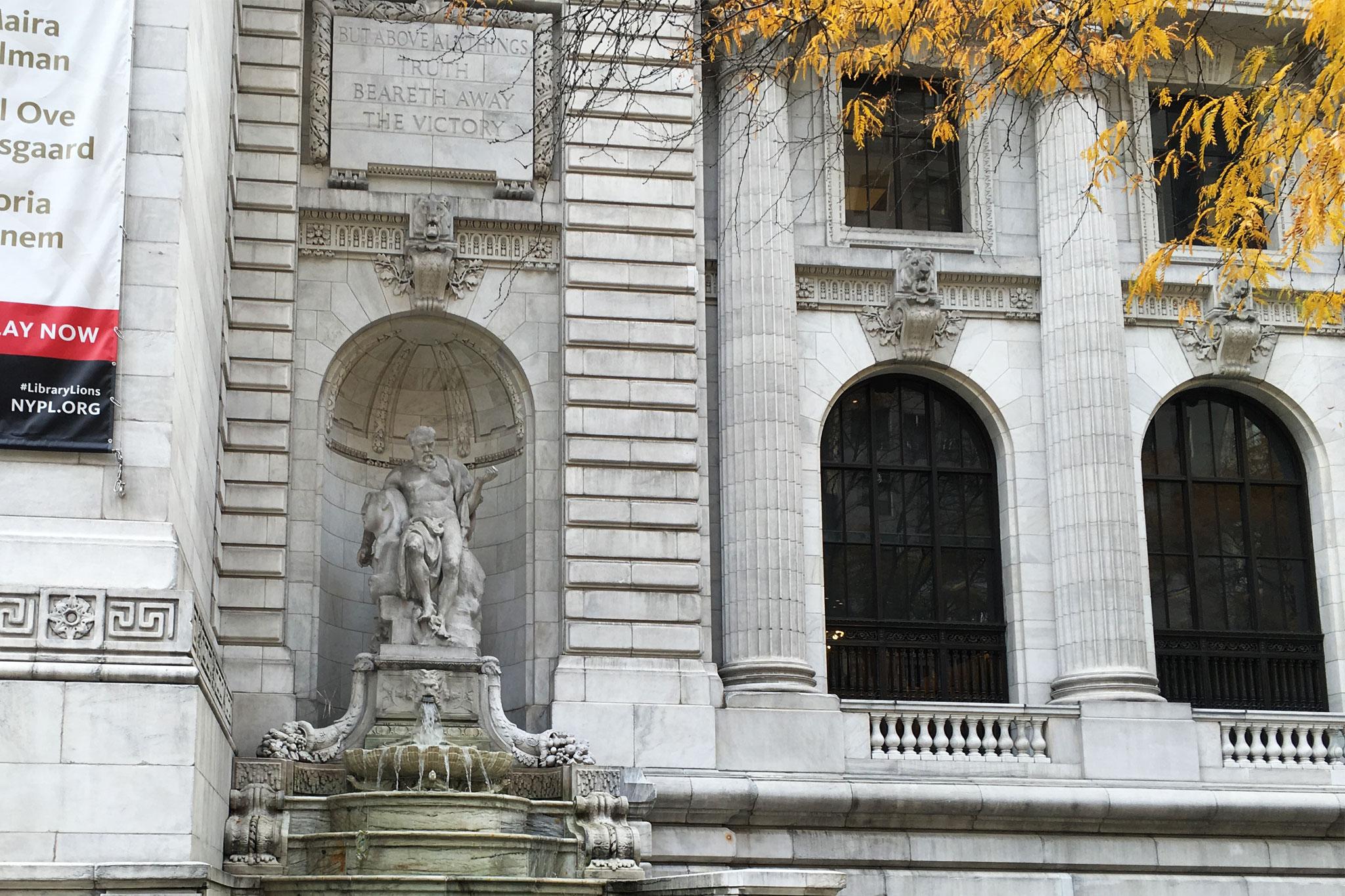 NY Public Library 5th Avenue Fountains