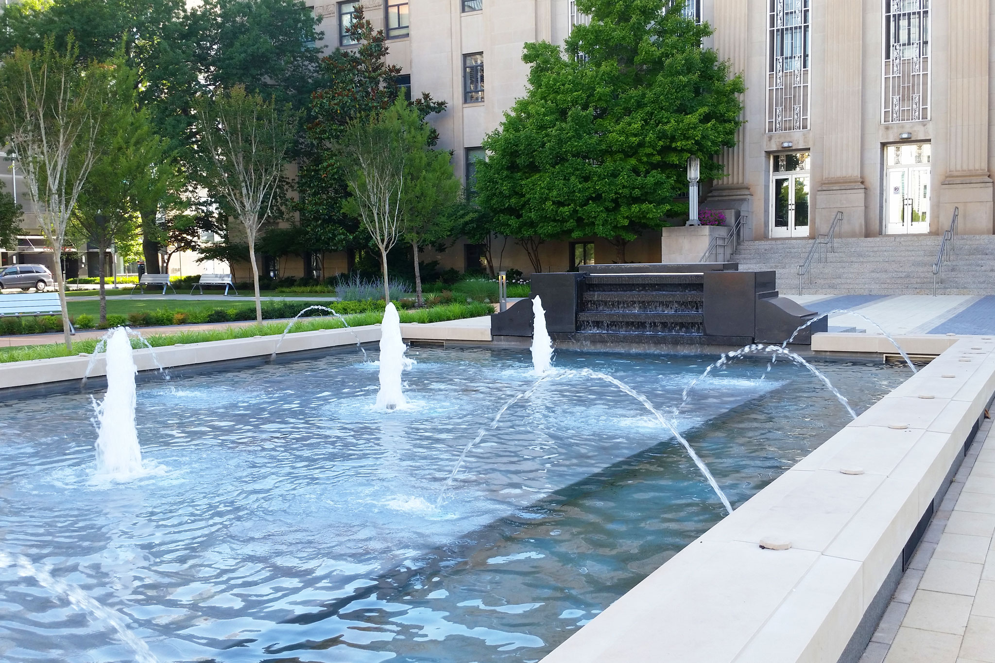 Oklahoma City Hall Lawn Fountain Design