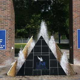 UNF Triangle Entrance Fountains
