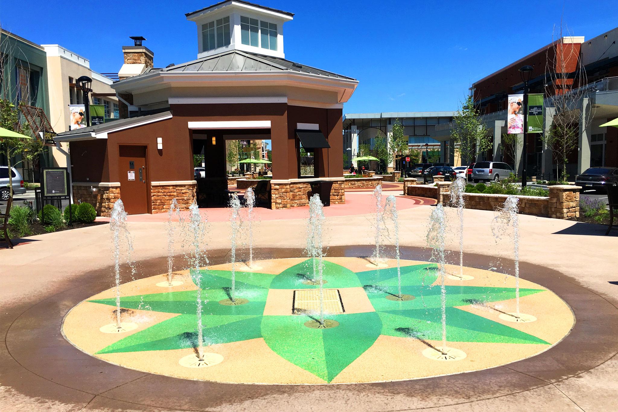 Splash Pad in Retail Landscape Architecture Design